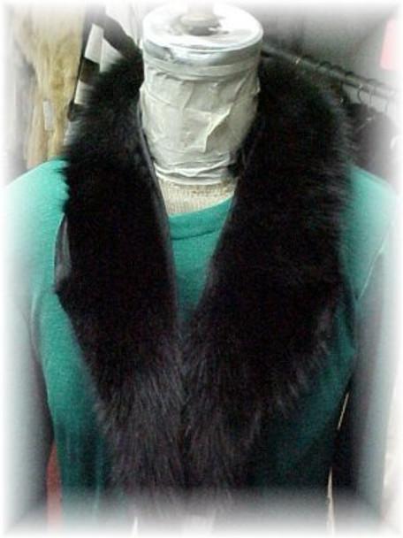 Full Skin Black Fox Shawl Fur Collar