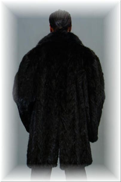 3/4 Mink Fur Jacket w/ Notch Collar 4