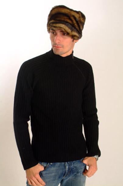 Brown Faux Fur Cap Style