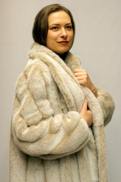 Faux Fur Mink Coat