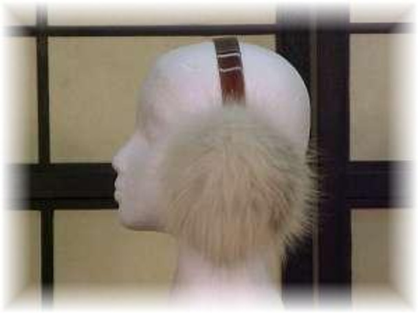 Amber Fox Fur Earmuffs