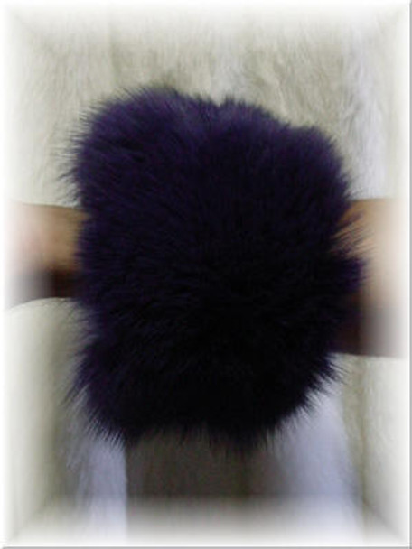 Dyed Royal Blue Fox Fur Cuffs