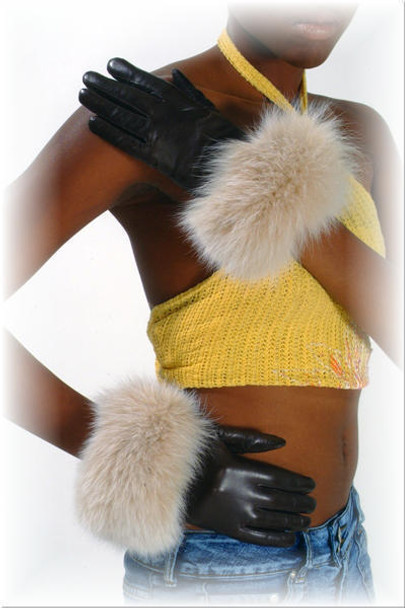 Fur Gloves  Leather & Snowtop