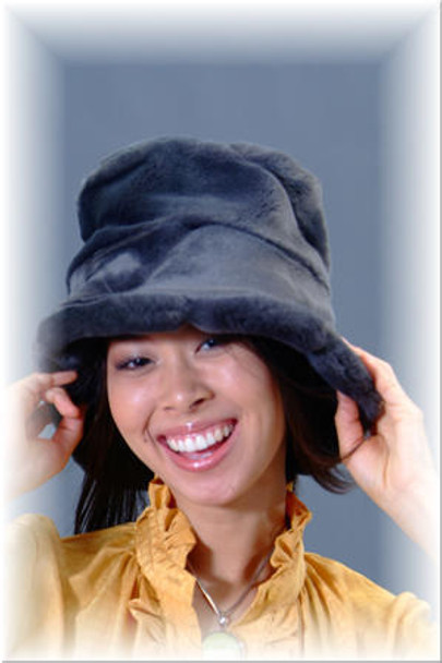 Black Faux Fur Hat 1