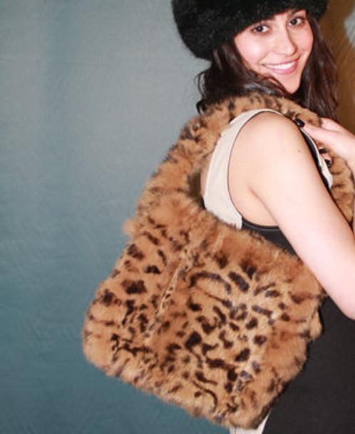 3-In-1 Golden Mink Fur Bag