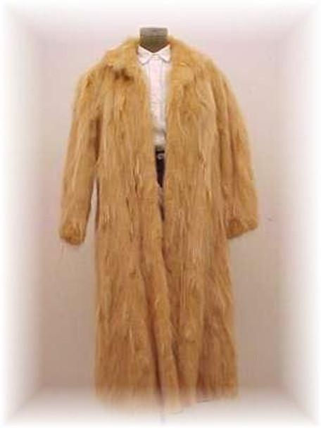 Dyed Golden Raccoon Fur Coat