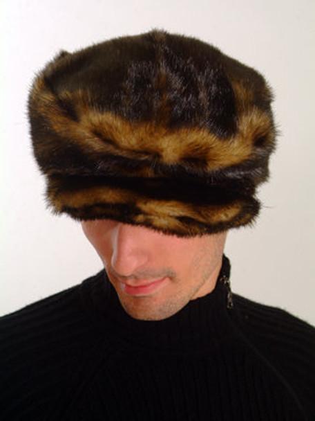 Brown Faux Fur Men's Cap Style