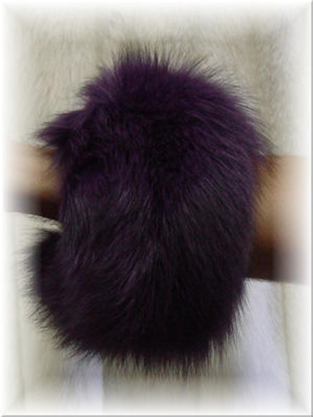 Dyed Plum Purple Fox Fur Cuffs