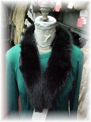b417a7502a9 Full Skin Black Fox Shawl Fur Collar - furoutlet