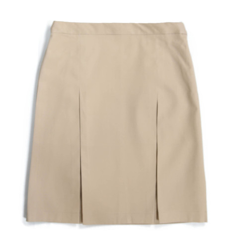 Beige skirt with box pleats