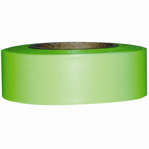 """1"""" x 200' Lime Flagging Tape"""