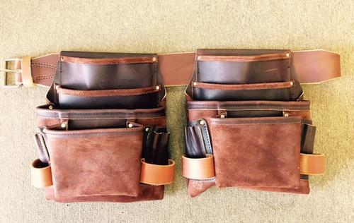 Amish Leather 4 Pouch Carpenter Set