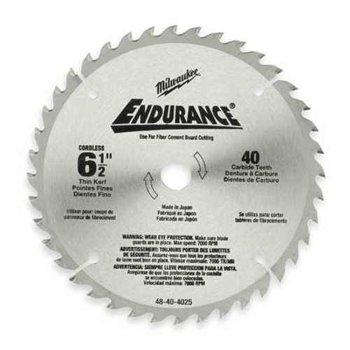 Milwaukee 6 1/2 Circular Saw Blade 48-40-4015 Carbide Tip