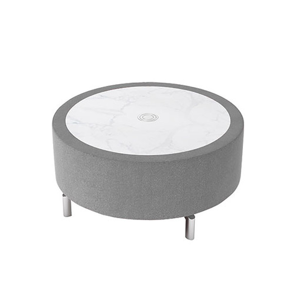 Woodstock Jefferson Round Coffee Table - Taupe