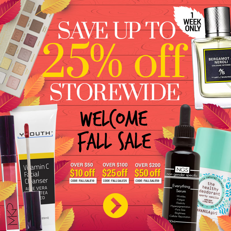 25% off storewide Fall Sale