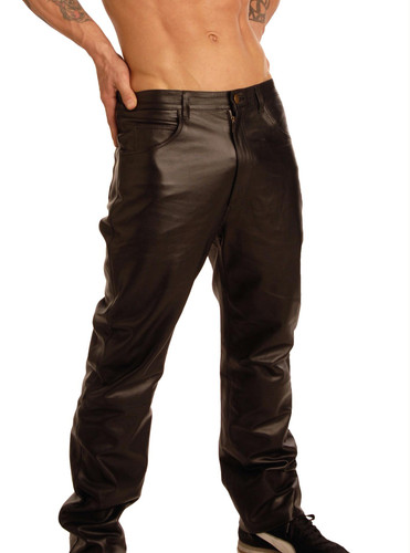 Mens Leather Pants Size : 34-34