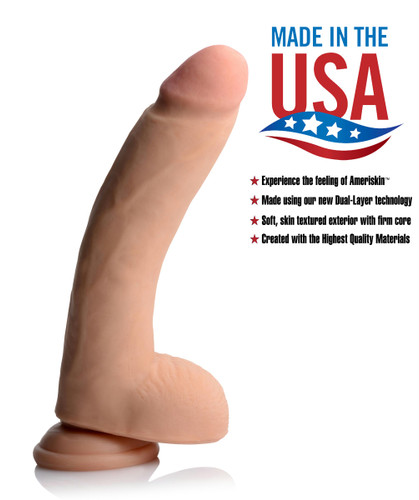 10 Inch Ultra Real Dual Layer Suction Cup Dildo (AF519)