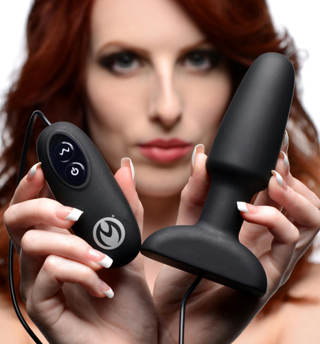 Popper Plug 7x Rechargeable Vibrating Silicone Anal Plug- Large