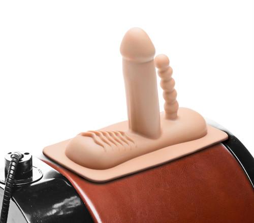 Double Penetration Attachment for Saddle Sex Machine