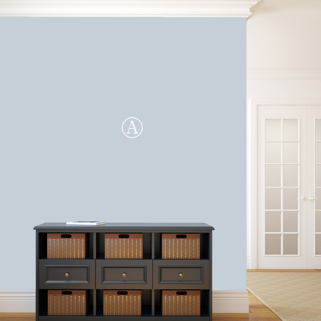 """Contemporary Monogram Wall Decal 6"""" wide x 6"""" tall Sample Image"""
