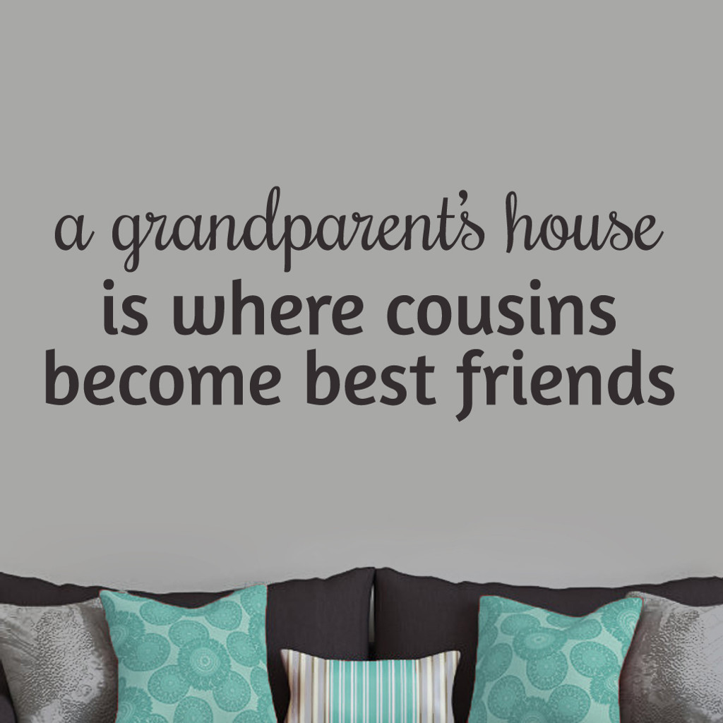 """A Grandparent's House Wall Decals and Stickers 48"""" wide x 18"""" tall Sample Image"""