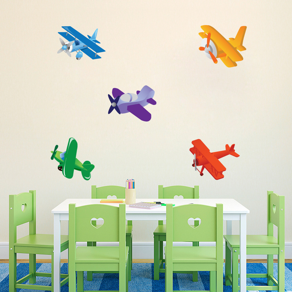 Airplanes Printed Wall Decals and Wall Stickers