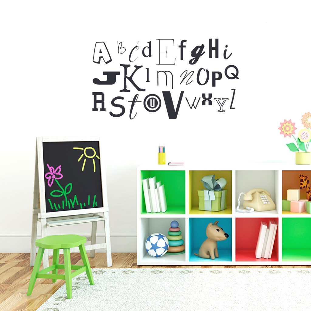 """Alphabet Wall Decals 40"""" wide x 22"""" tall Sample Image"""