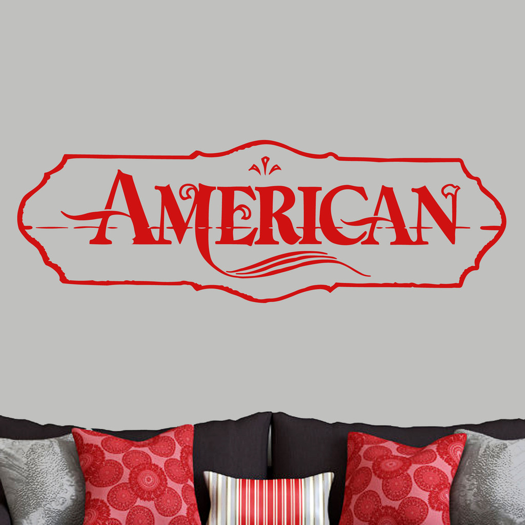 """American Wall Decals 60"""" wide x 20"""" tall Sample Image"""