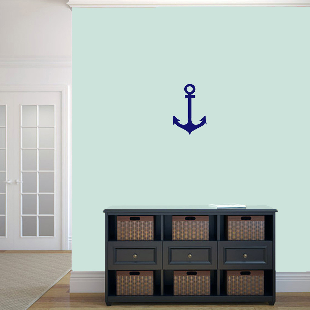 "Anchor Wall Decal 8"" wide x 12"" tall Sample Image"