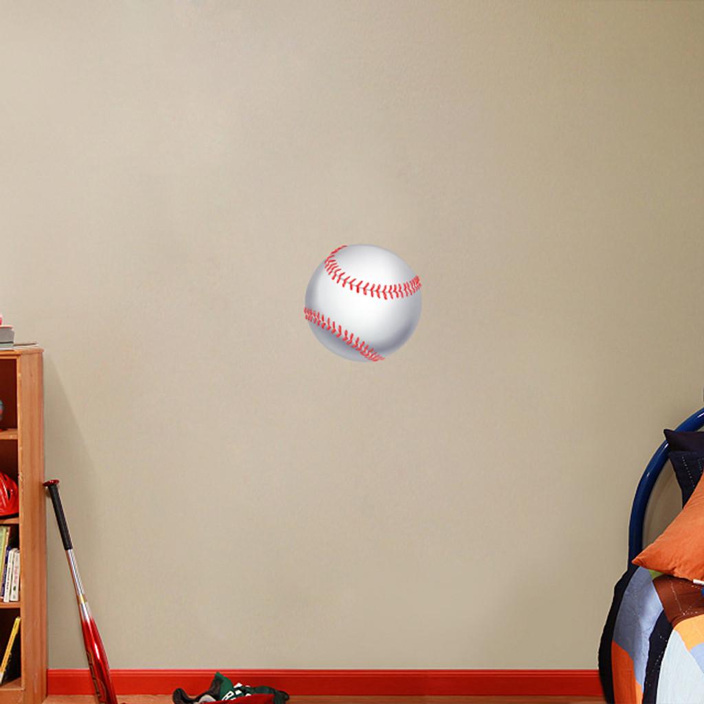 "Printed Baseball Wall Decals 12"" wide x 12"" tall Sample Image"