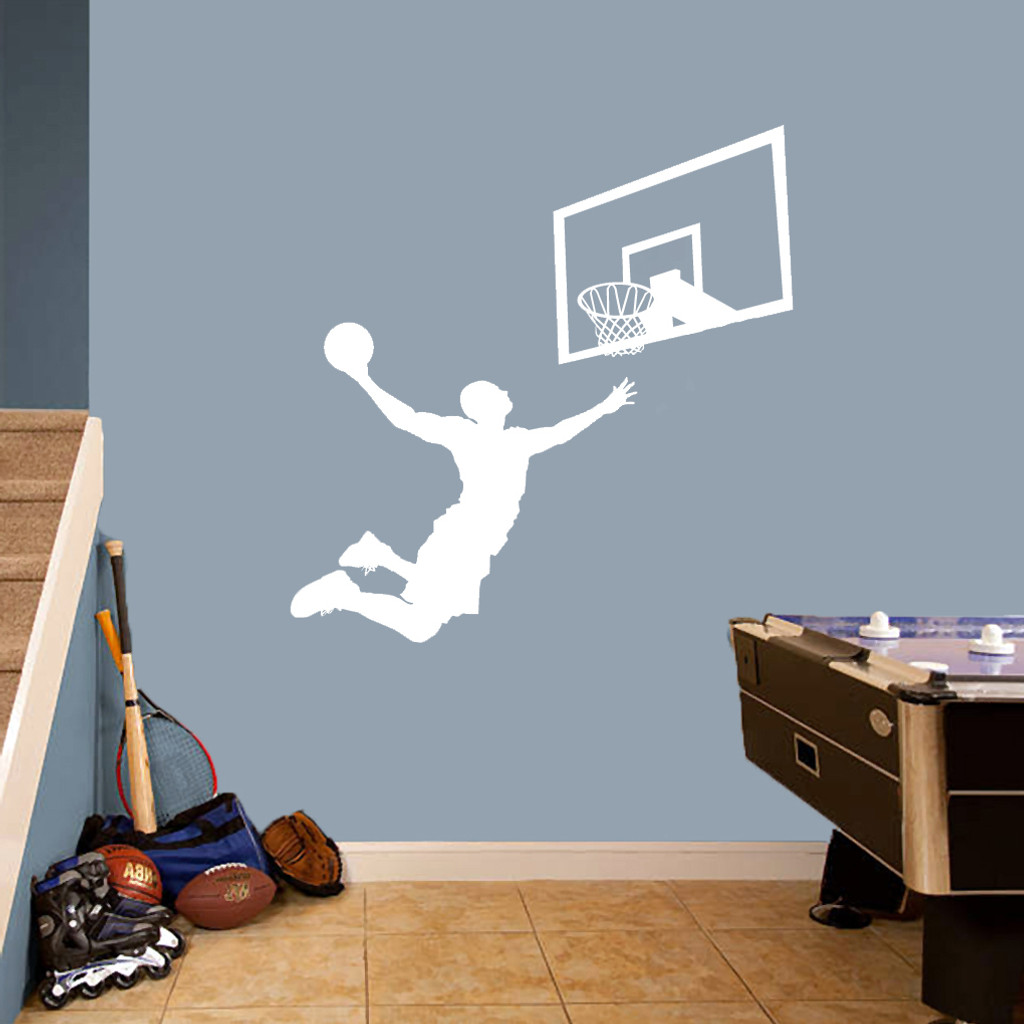 Basketball Slam Dunk Set Wall Decals Large Sample Image