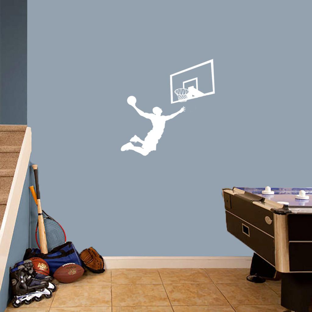 Basketball Slam Dunk Set Wall Decals Small Sample Image