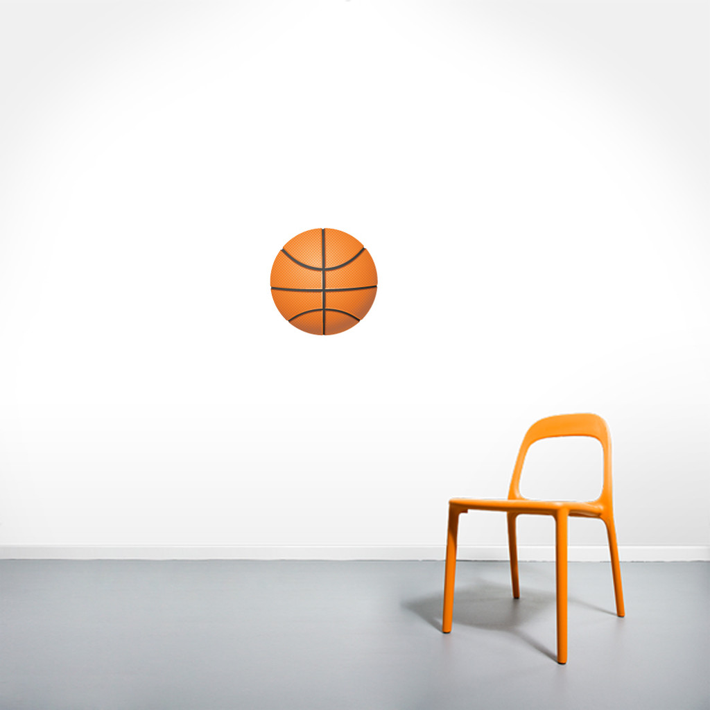 """Basketball Printed Wall Decals 12"""" wide x 12"""" tall Sample Image"""