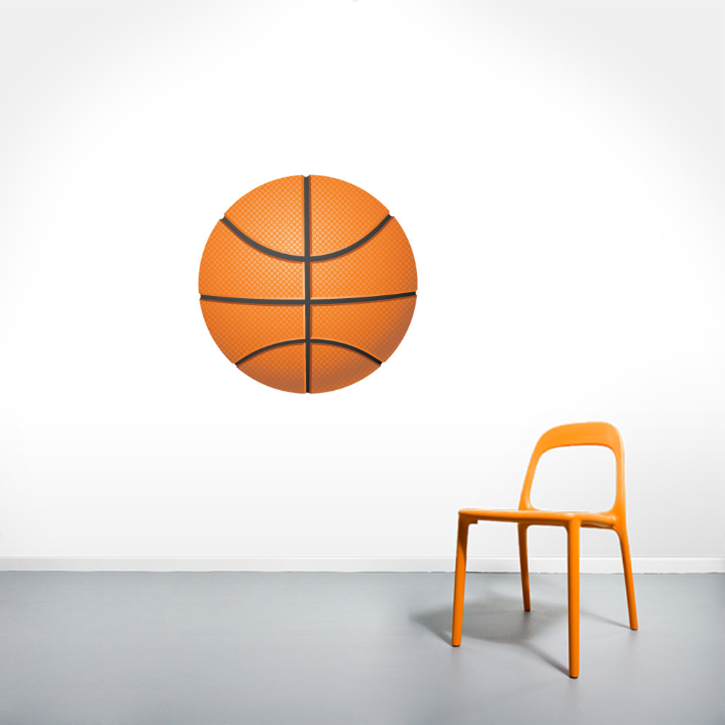 """Basketball Printed Wall Decals 24"""" wide x 24"""" tall Sample Image"""