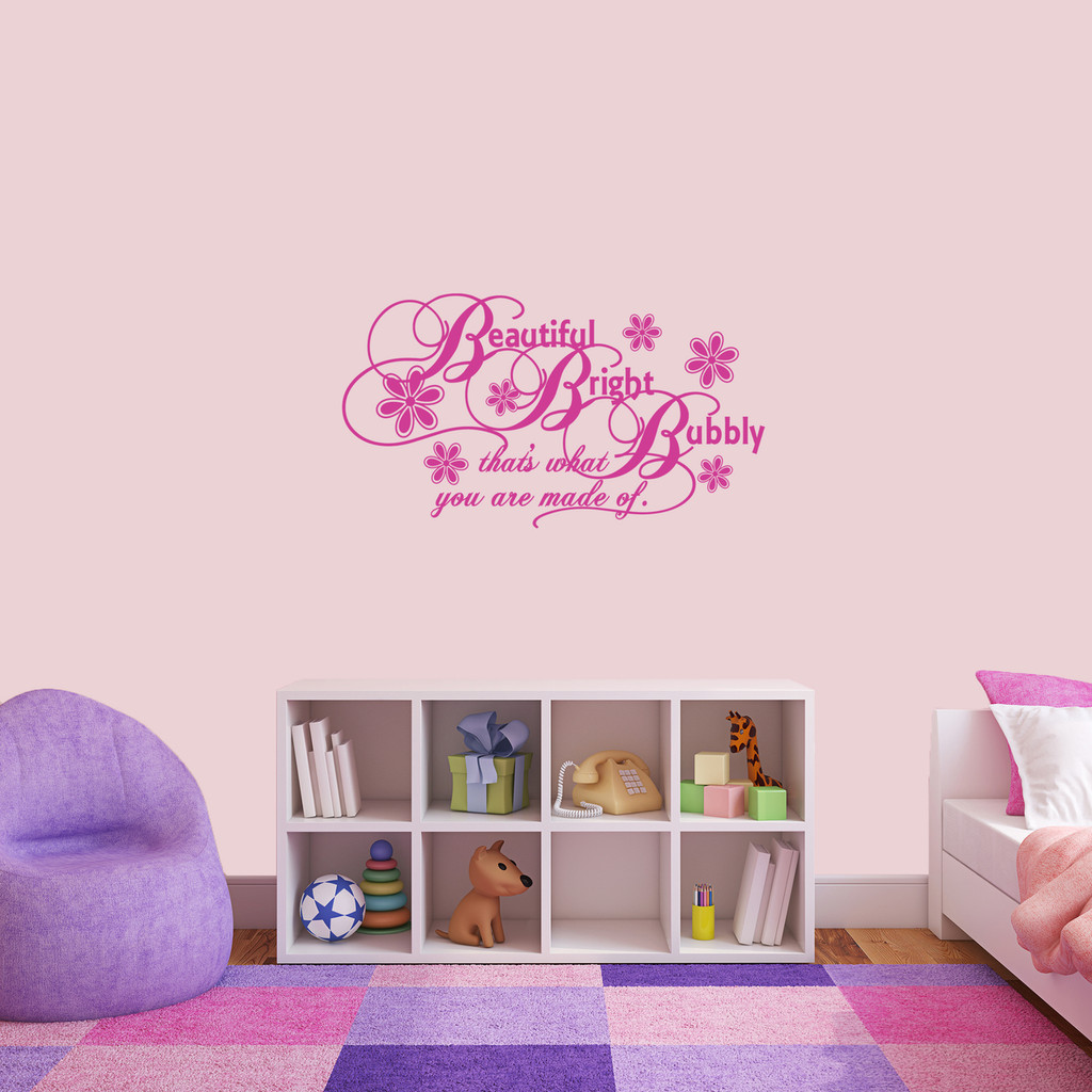 """Beautiful Bright Bubbly Wall Decal 36"""" wide x 20"""" tall Sample Image"""