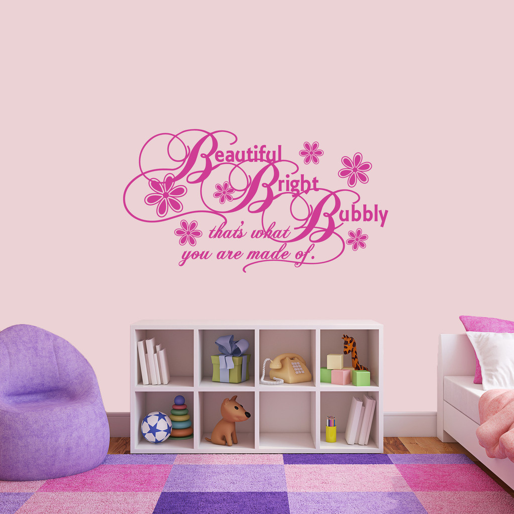 """Beautiful Bright Bubbly Wall Decal 48"""" wide x 26"""" tall Sample Image"""