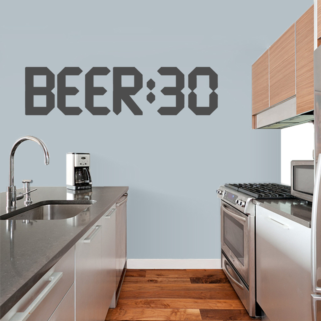 """BEER:30 Wall Decal 48"""" wide x 12"""" tall Sample Image"""