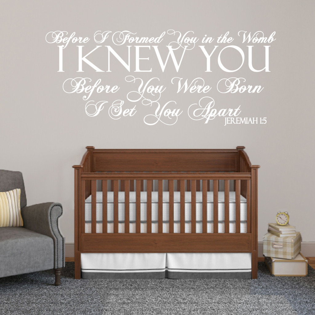 """Before I Formed You Wall Decals Wall Stickers 60"""" wide x 25"""" tall Sample Image"""
