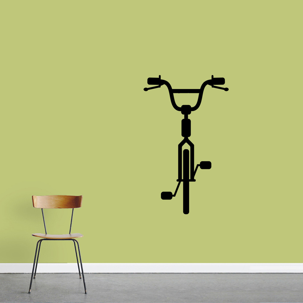 "Bike Wall Decal 22"" wide x 36"" tall Sample Image"