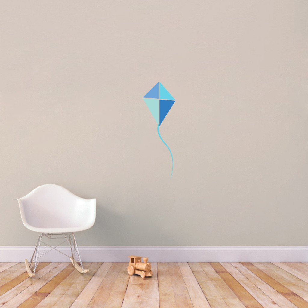 "Blue Kite Printed Wall Decals 12"" wide x 36"" tall Sample Ima"