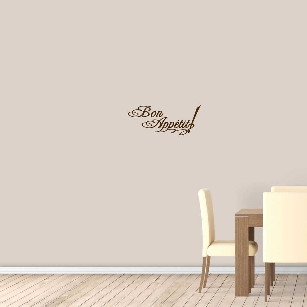 "Bon Appetit Wall Decal 24"" wide x 10"" tall Sample Image"