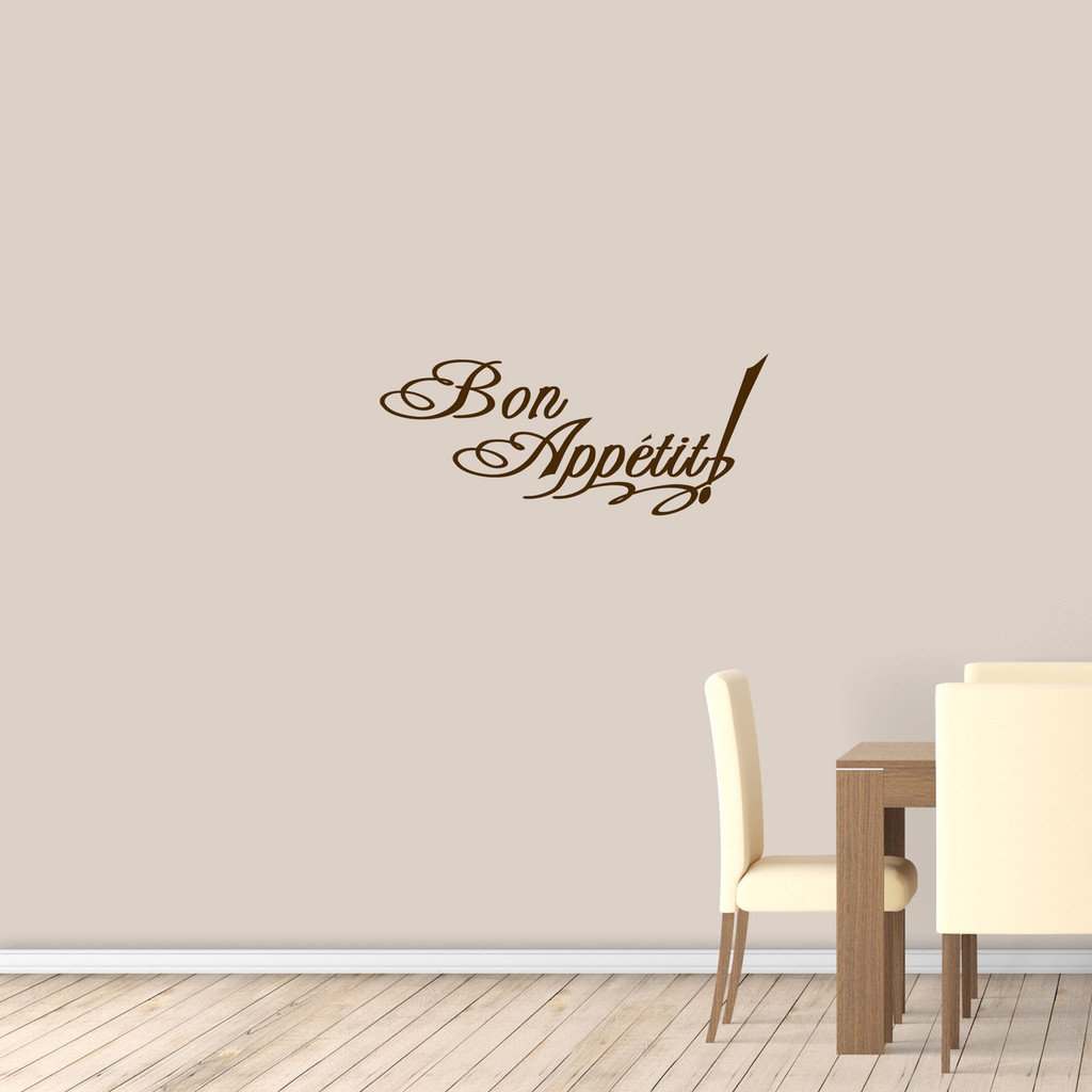 "Bon Appetit Wall Decal 36"" wide x 15"" tall Sample Image"
