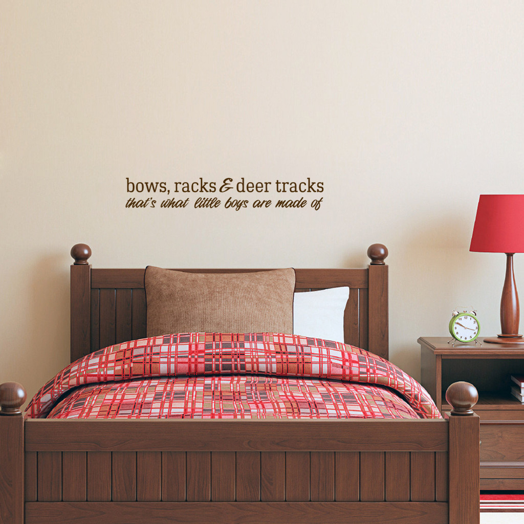 """Bows Racks & Deer Tracks Wall Decals Wall Stickers 36"""" wide x 6"""" tall Sample Image"""
