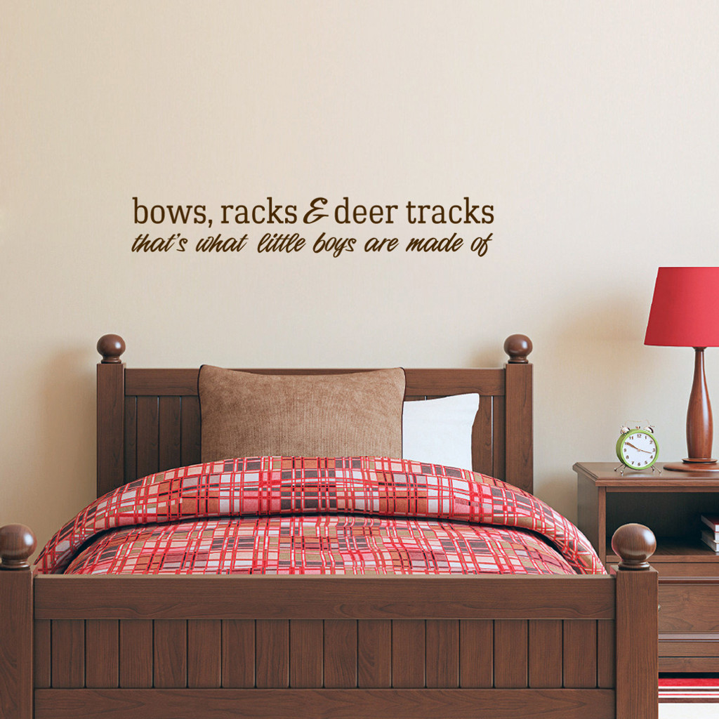 """Bows Racks & Deer Tracks Wall Decals Wall Stickers 48"""" wide x 8"""" tall Sample Image"""