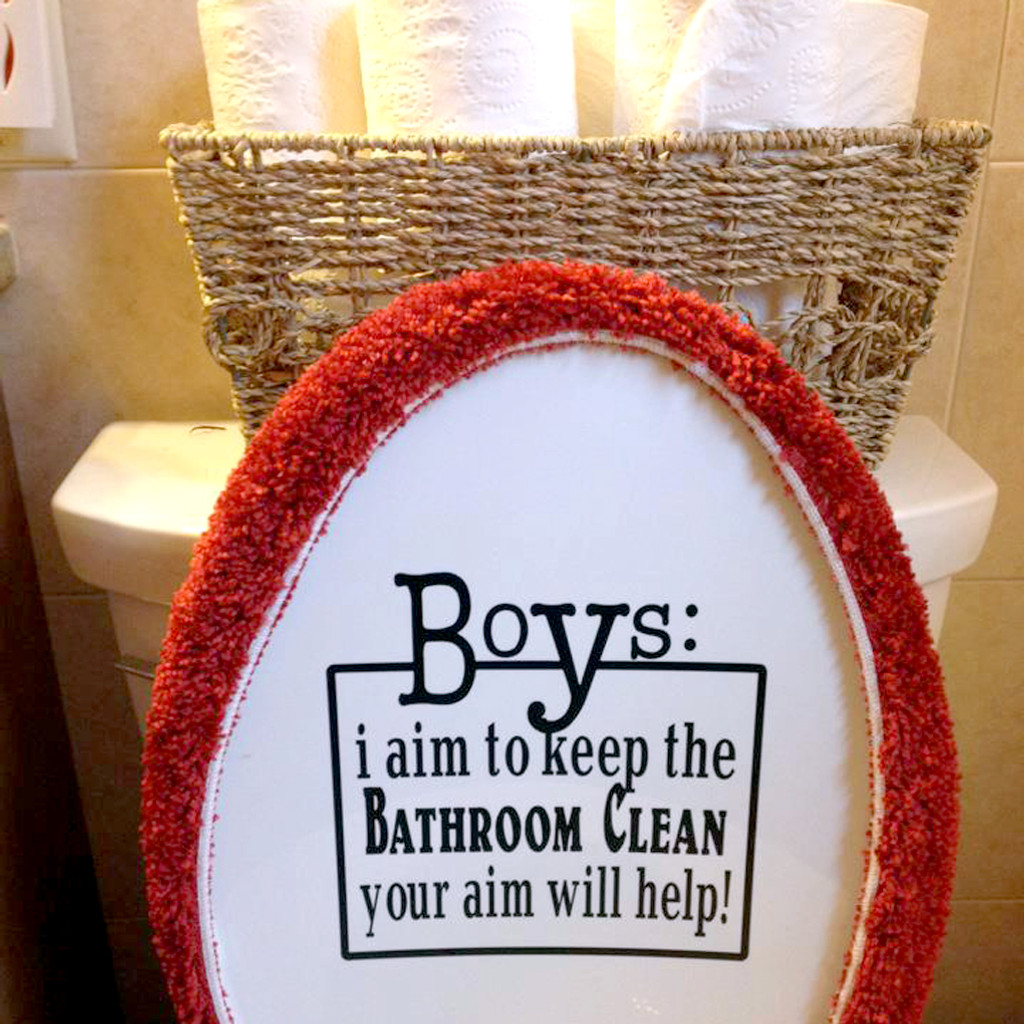 Boys: Your Aim Will Help Wall Decal