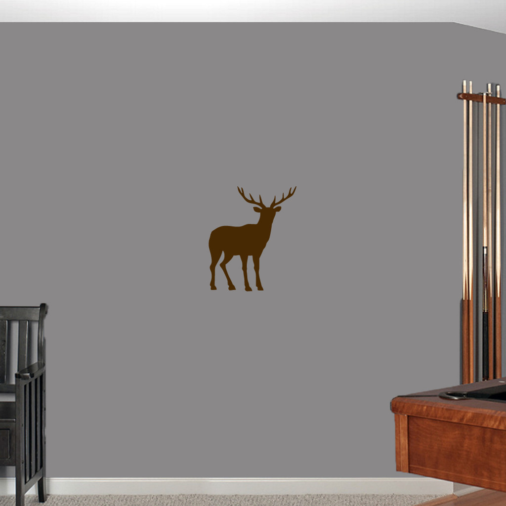 """Buck Wall Decals 15"""" wide x 18"""" tall Sample Image"""