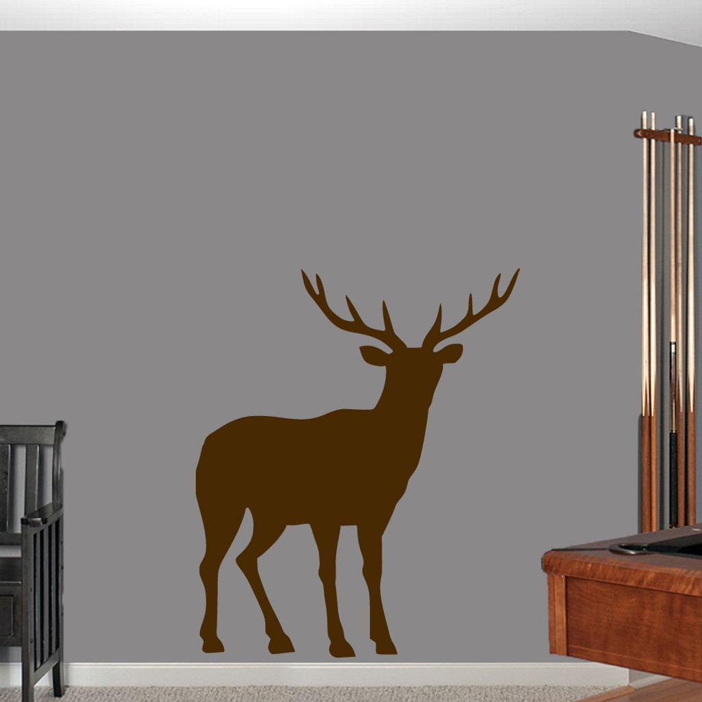 """Buck Wall Decals 40"""" wide x 48"""" tall Sample Image"""