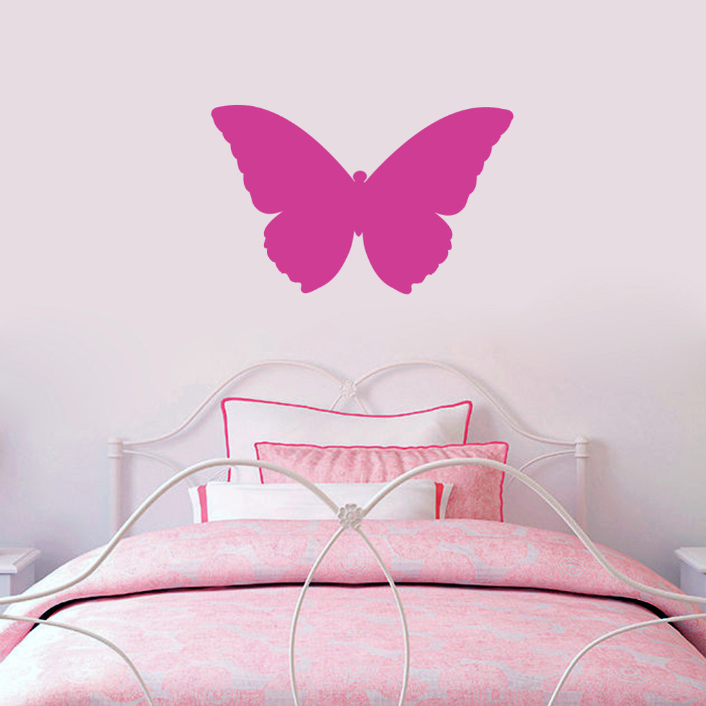 """Butterfly Silhouette Wall Decals 24"""" wide x 15"""" tall Sample Image"""