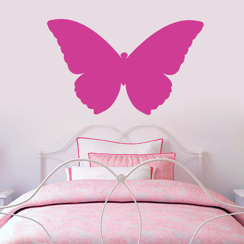 """Butterfly Silhouette Wall Decals 36"""" wide x 22"""" tall Sample Image"""