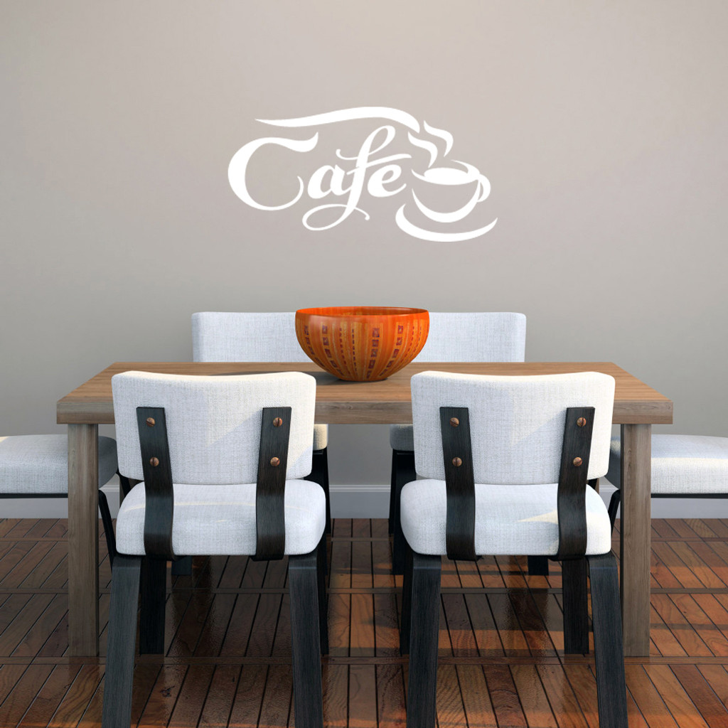 """Cafe Wall Decals 22"""" wide x 11"""" tall Sample Image"""